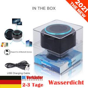 Lautsprecher Bluetooth Kabellos Sound Box Wasserdicht für Dusche, Badezimmer DE