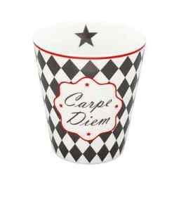 KRASILNIKOFF Mug - Tasse ohne Henkel Carpe Diem Höhe ca. 10 cm HM101