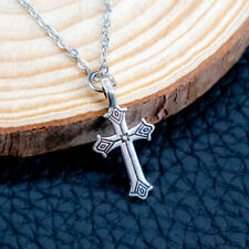 """Dainty Cross Charm Pendant Necklace For Women With 18"""" Link Chain"""