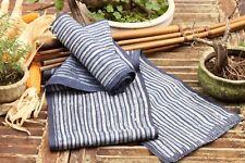 Vintage Hmong Handwoven Hemp Indigo Batik Hand Drawn Natural Fabric Hill Tribe