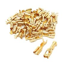 50Pcs Female Spade Cable Wire Terminals for 2.8mm/ 0.11mm Connectors  Car plugin