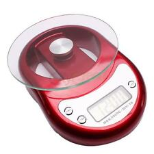 5000g/1g Electronic Digital Kitchen Scale Diet Food Weighing Balance Clock