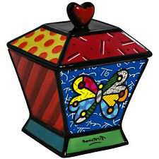 ROMERO BRITTO CANISTER/ COOKIE JAR  - BUTTERFLY  ** NEW **