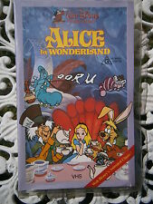 "WALT DISNEY CLASSIC ""ALICE IN WONDERLAND"" ~ RARE CLAMSHELL VIDEO"