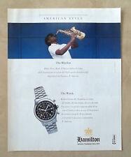 C318-Advertising Pubblicità-1998- HAMILTON KHAKI CHRONO 40 AMERICAN STYLE