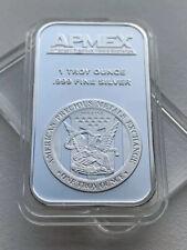 1oz 999 Fine Silver APMEX Bullion Bar In Airtight Capsule