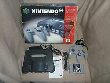Nintendo 64 Game System Console in Original Box Tested + Star Wars Shadows of th