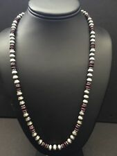 Navajo Pearls Purple Spiny Oyster Bead Necklace 24 Inches