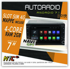 AUTORADIO 2din DVD Android 7.1 2GB 4G Navigatore Gps Dvd 4G Peugeot Partner