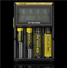 NITECORE D4  18650 BATTERY CHARGER. LCD, NIMH Li Ion NiCad IMR LiFePO4 AA, AAA