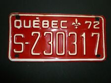 1972 PLAQUE IMMATRICULATION PLATE LICENSE MOTONEIGE SNOWMOBILES QUEBEC VINTAGE