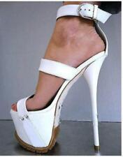 Ladies Super High Heel Ankle Strap Sandals Platform Stiletto Pumps Shoes Club Sz