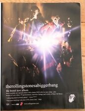 ROLLING STONES A Bigger Bang 2006 magazine ADVERT/Poster/clipping 11x8 inches