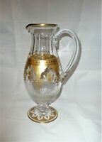 Baccarat Crystal Prestige Pattern Gold Cutted Wine Jug