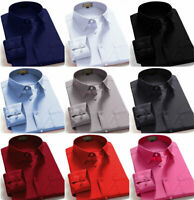 Dress Shirts Men's Regular Fit Oxford Long Sleeve Solid Color Shirt Many Colors