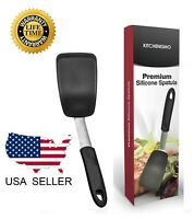 Kitchen Spatula Silicone Turner Pancake Egg Heat Resistant 440 Degrees - Smaller