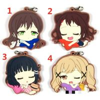 BanG-Dream Rubber Keychain Key Ring Race Straps cosplay