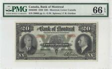 3.1.1938 BANK OF MONTREAL CANADA $20 **RARE** (( PMG 66 EPQ ))