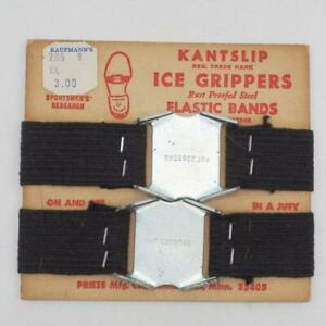 Vintage Shoes 1950S Mens Kantslip Ice Grippers Unused On Display Cardboard