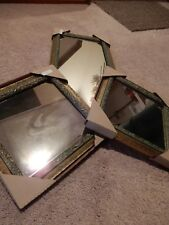 Lot Of 3 New National Picture & Frame Co Hanging Mirrors 8 X 18 Pair Of 8 X 8