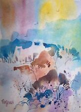 """SUMMER MISSION"" original watercolor by American artist Micheal Jones"