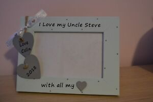 """Uncle personalised photo frame - daddy uncle brother nephew gift 6 x 4"""""""