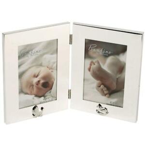 Bambino Silver-Plated Double Photo Frame (CG924)