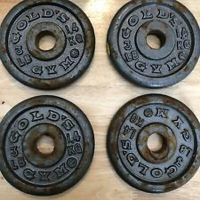Four Vintage Gold's Gym 3lb weight Plates / 12lbs total / for 1 inch bar
