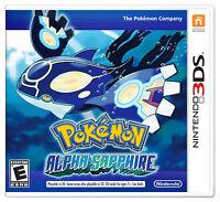 3DS Pokémon Alpha Sapphire (Nintendo 3DS, 2014) NEW  FREE SHIPPING