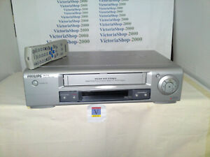 PHILIPS VR530 VCR Video Recorder -Auto head cleaner-TurboDrive-4 Heads-NicamHiFi