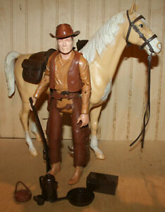Vintage Marx 1965 JOHNNY WEST w/ THUNDERBOLT HORSE & Gear BEST OF THE WEST