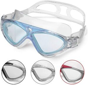 AntiFog Clear Vision UV Anti Slip Easy to Adjust Silicone Skirt Swimming Goggles