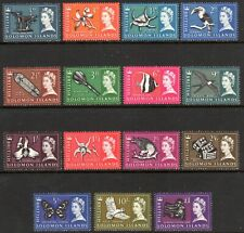 1965 SOLOMON ISLANDS PICTORIALS DEFINITIVES SG112-126 mint unhinged