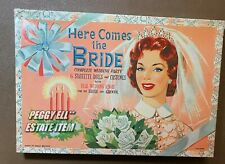 "PHILMAR ""HERE COMES THE BRIDE"" 6 WEDDING PARTY PAPER DOLLS BOXED SET #M612"