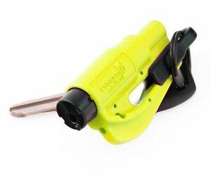 Resqme Rescue Tool Keychain Window Break + Seatbelt Cutter - Neon Yellow