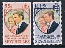 Seychelles 1972 Royal Wedding SG 321/2 MNH
