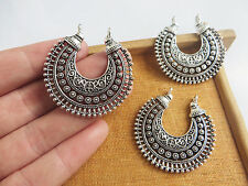 10 x Antique Silver Filigree Chandelier Earring Component Connector Pendants