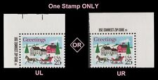 US 2400 Holiday Sleigh and Village 25c zip single MNH 1988