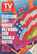 1988 TV Guide Nov. 5-11 Election Coverage: Which Network You Should Watch
