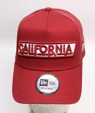 New Era Snapback A-Frame Trucker Cap Adjustable California USA rot Kappe NEU