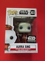 Funko POP! Star Wars Smuggler's Bounty Exclusive #303 Aurra Sing NEW