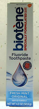 Biotene Fresh Mint Original Dry Mouth Fluoride Toothpaste 4.3oz soothe oral