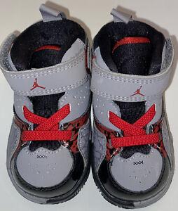 ADORABLE KIDS Nike Air Jordan Phase 23 2 Gray/Black/Red Toddler Size 4C