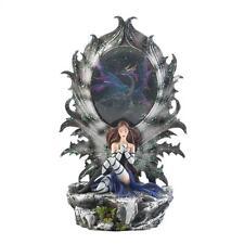New Dragon And Fairy Figurine Statue Led Light Mythical Fantasy Home Decor