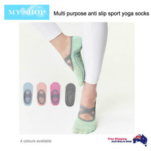 Anti-Slip Yoga Pilates Ballet Training Socks -One Pair, Fits Size 5-9