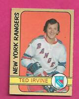 1972-73 OPC # 212 RANGERS TED IRVINE HIGH # VG+ CARD (INV# D1268)