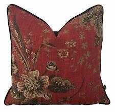 Stonington Circa Campfire Jacobean Floral French Vintage Designer Cushion Pillow