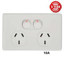 Double Power Point Slimline  10 Amp 240 Volt