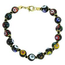 GlassOfVenice Murano Glass Mosaic Bracelet - Black
