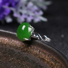 D02 Ring grüner Jaspis Unendlichkeit Sterling Silber 925 größenverstellbar